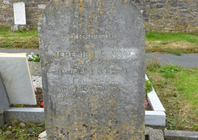 Closeup of Jeremiah's grave where we suspect James may be buried
