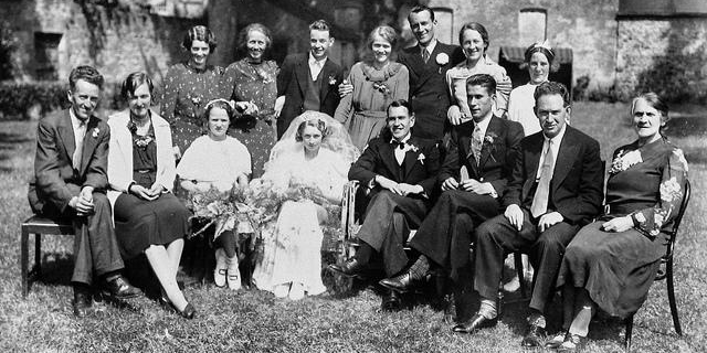 Bill and Moll's wedding day
